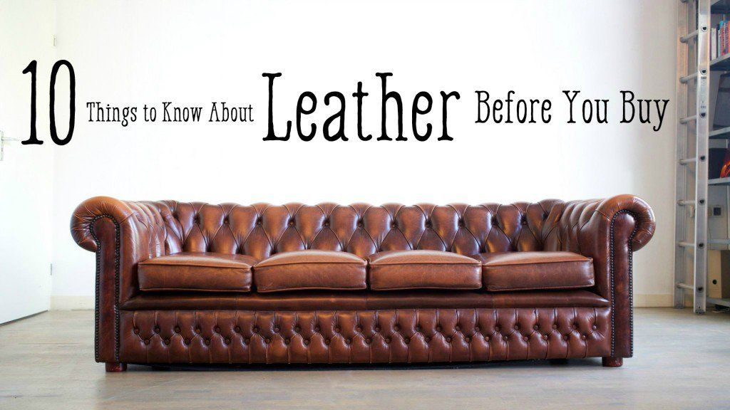 Leather Furniture Guide: Top Grain to Bonded Leather ...