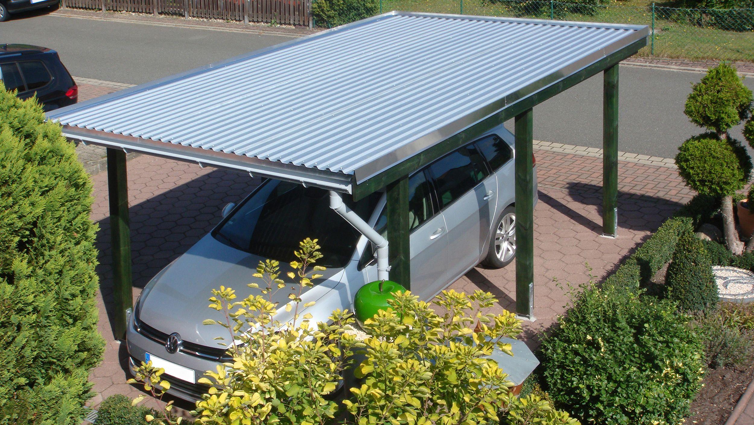 Carport Dacheindeckungen Stahltrapezprofilplatten Stahldach Wasserleitblech Dachrinne Dacheindeckung Stahldach Dach