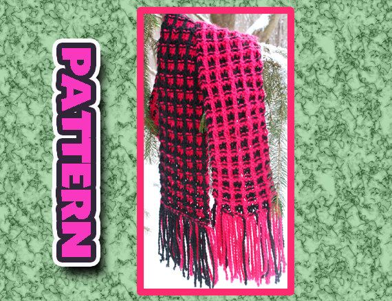 Pdf Two Color Knit Scarf Pattern Quick Knit Super Soft Easy Knit