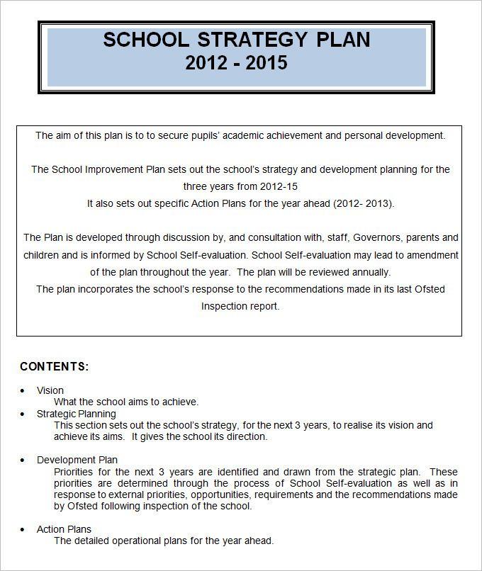 4 school strategic plan template free word pdf News to Go 2