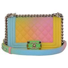 aab41927d6b2 Chanel Rainbow Chanel Boy Handbag Small  17 Crossbody NEW Sold Out ...