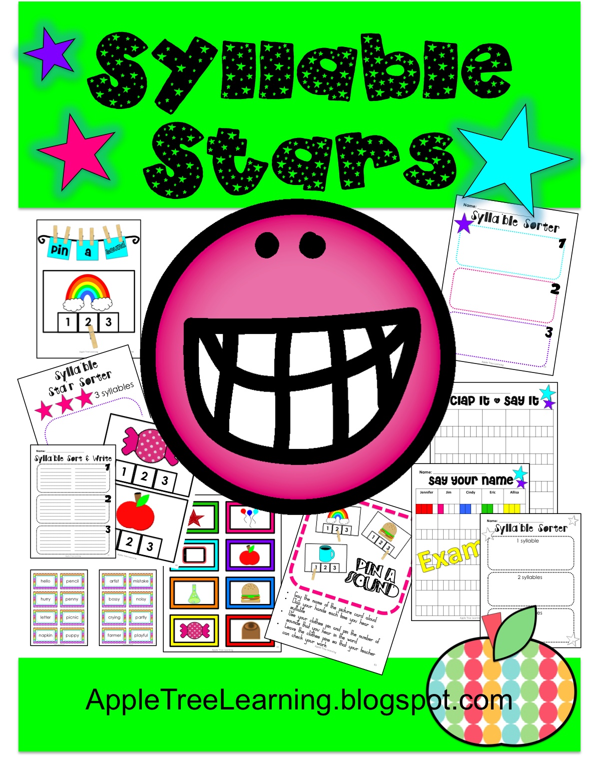 Syllable Stars Games For Reading Understanding And