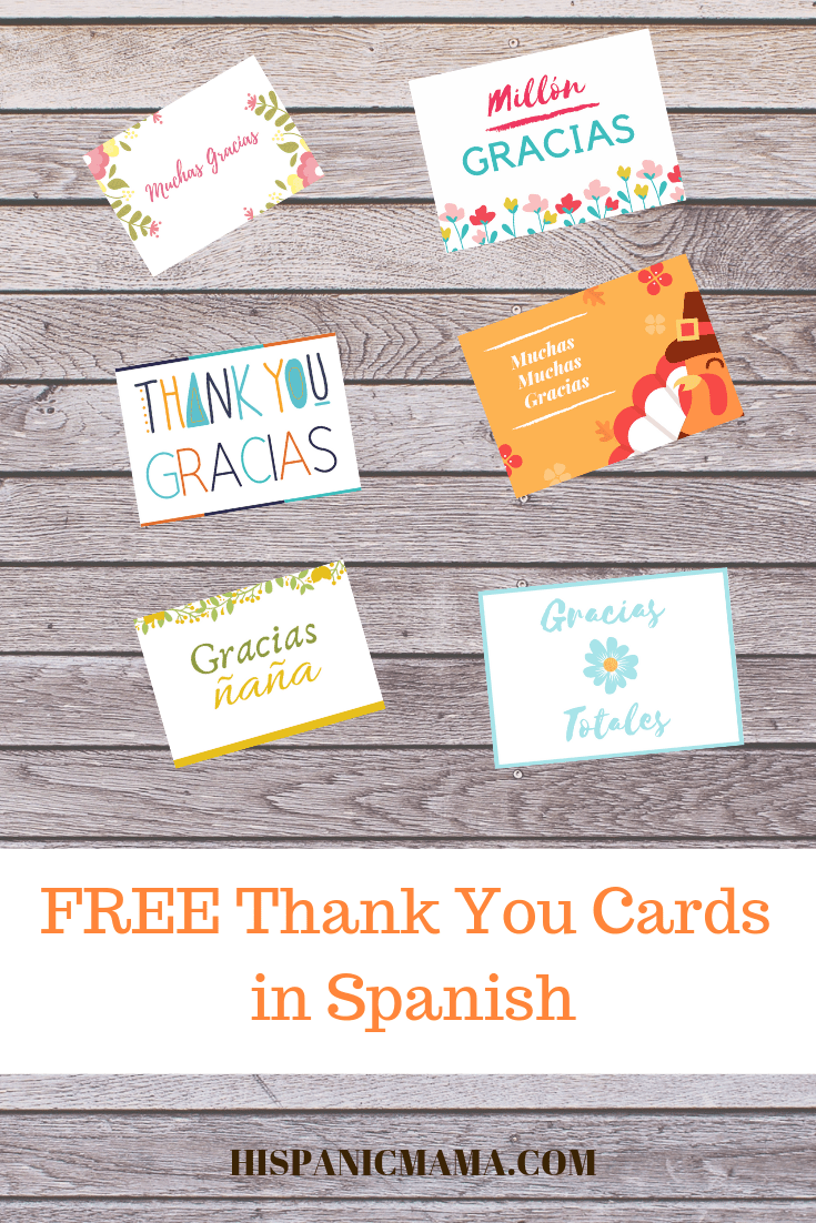giving thanks and free thank you cards in spanish