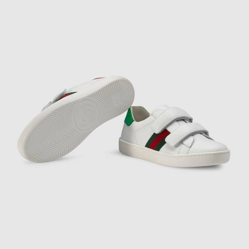 c8e39cd1fe3 Details about Gucci Children s Ace leather sneaker- Size 27ITA (10.5 ...