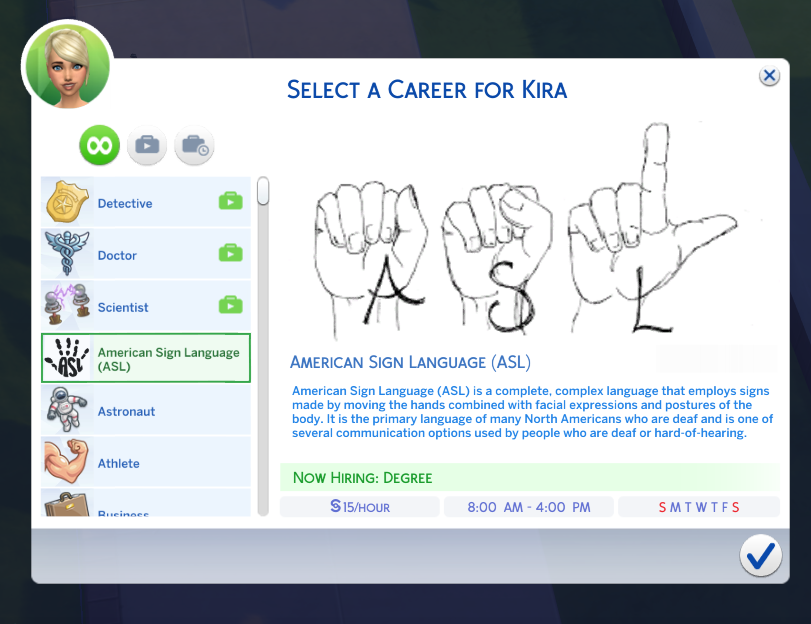 My newest career American Sign Language! There are 10