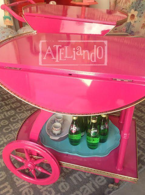 Ateliando - Customização de móveis antigos  Laqueação pink pantera para alegrar!