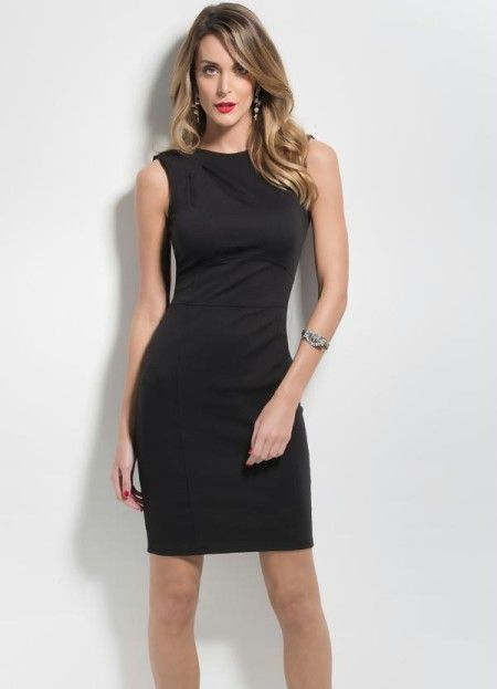 1705600f3 vestido tubinho preto justo | Vestidos para trabalhar | Vestidos ...
