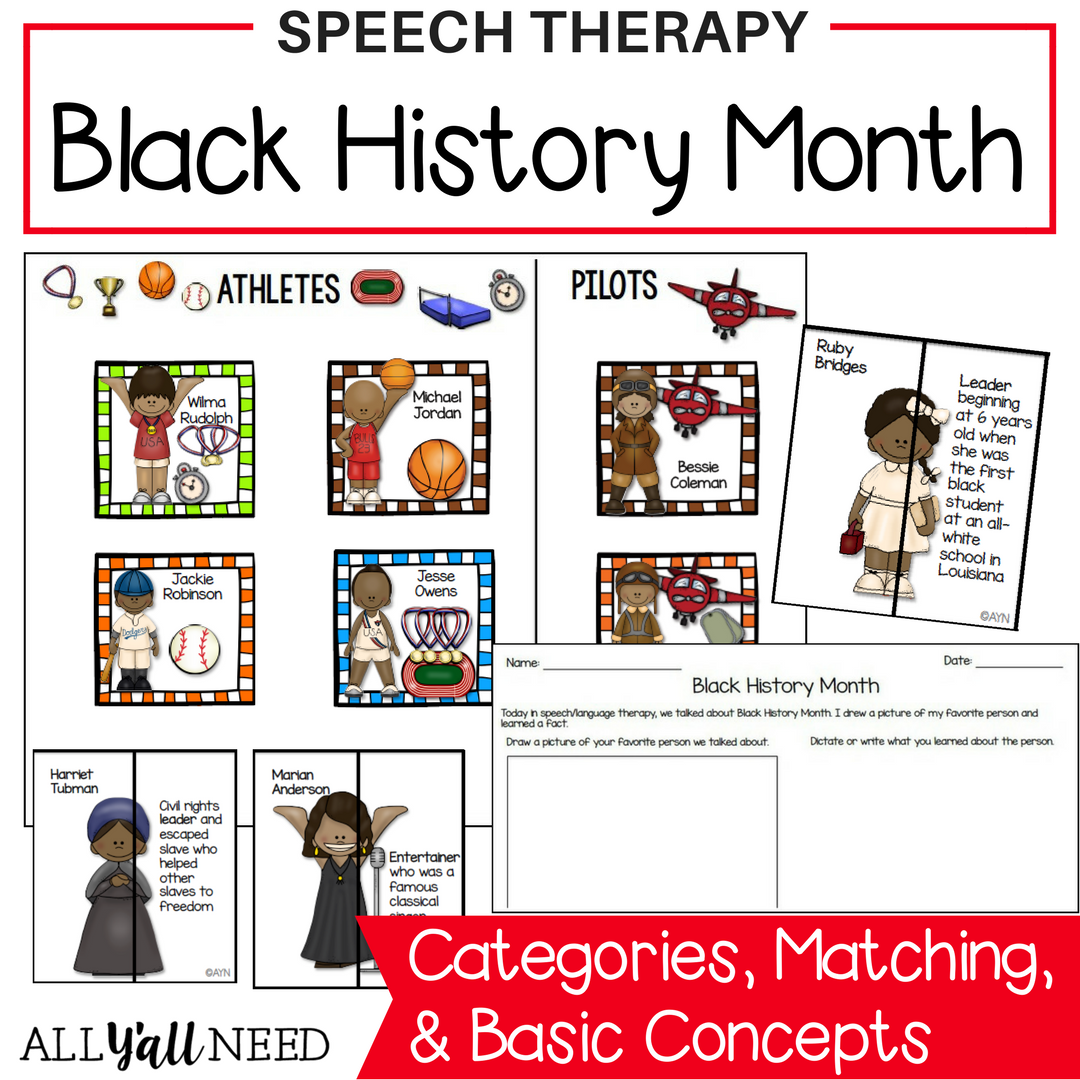 Black History Month For Speech Language Therapy Younger
