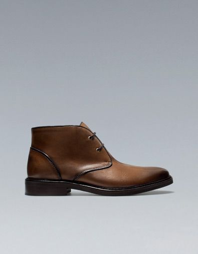 9a6c5e9d000 LEATHER ANKLE BOOTS - Boots and ankle boots - Shoes - Man - ZARA United  States