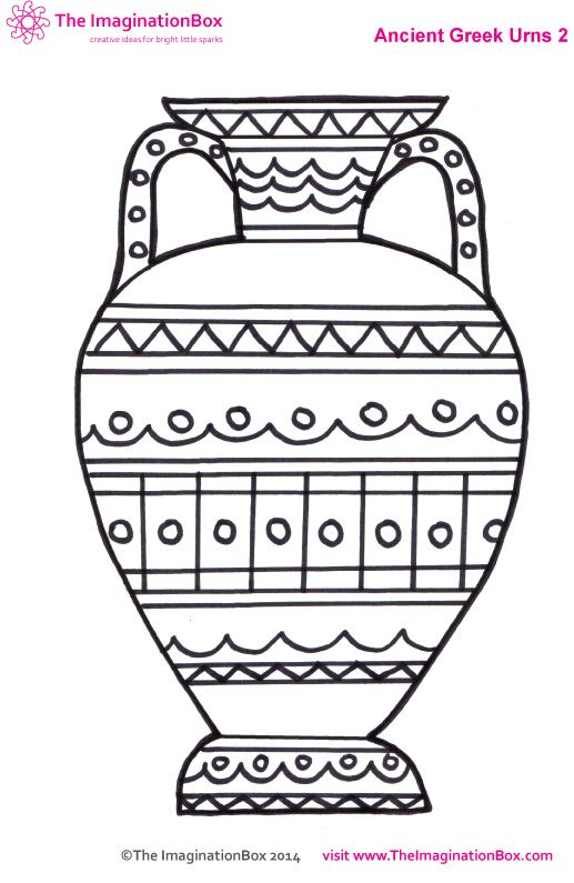 ancient greek urn colouring sheet Yr3 Greek art Lent