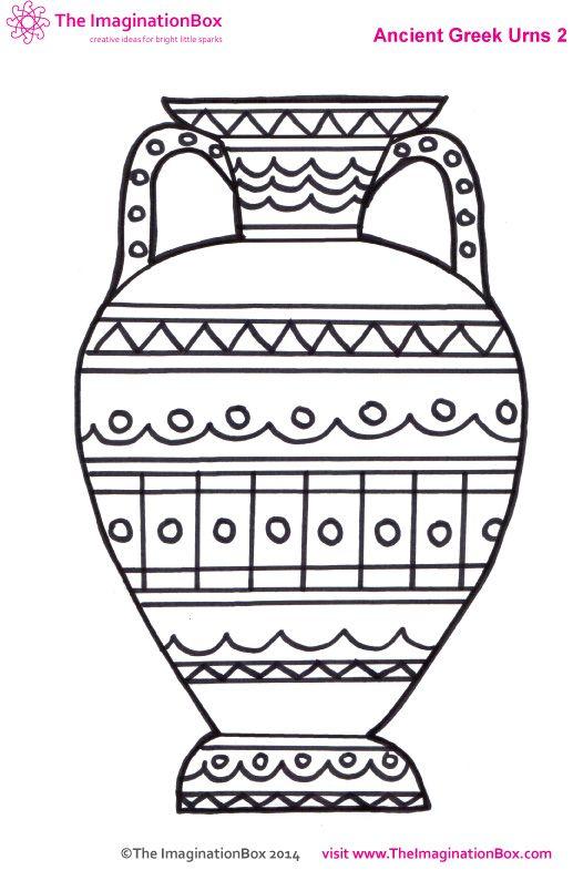 Greek Vase Coloring Pages Greek Vases Greek Pottery Art Lessons