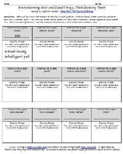 Show-Don't-Tell Cut and Paste No Prep Worksheet by Fine Wein | TpT