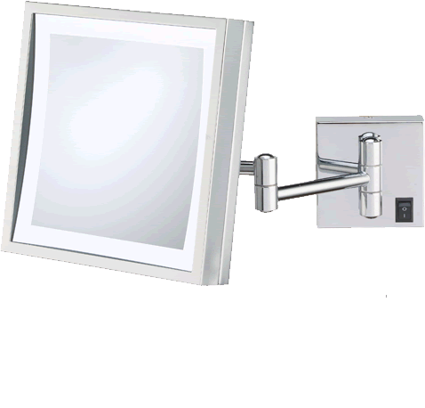 Kimball Young 912 Series Modern Square Hardwired Makeup Mirrors Are Led Lighted And Come In Hardwired And Plug In Led Makeup Mirror Modern Square Led Mirror