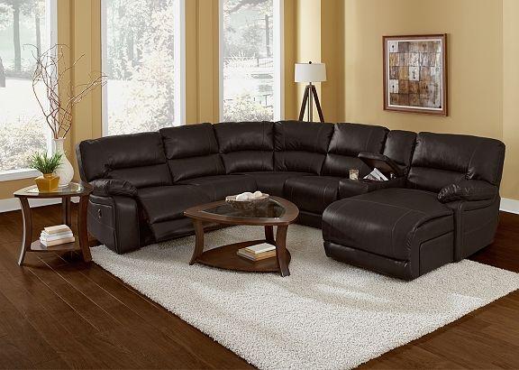 American Signature Furniture Wyoming Godiva Leather
