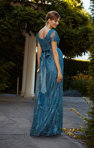 ea685d9d24 Elsa Maternity Gown Long Lagoon Blue - Maternity Wedding Dresses
