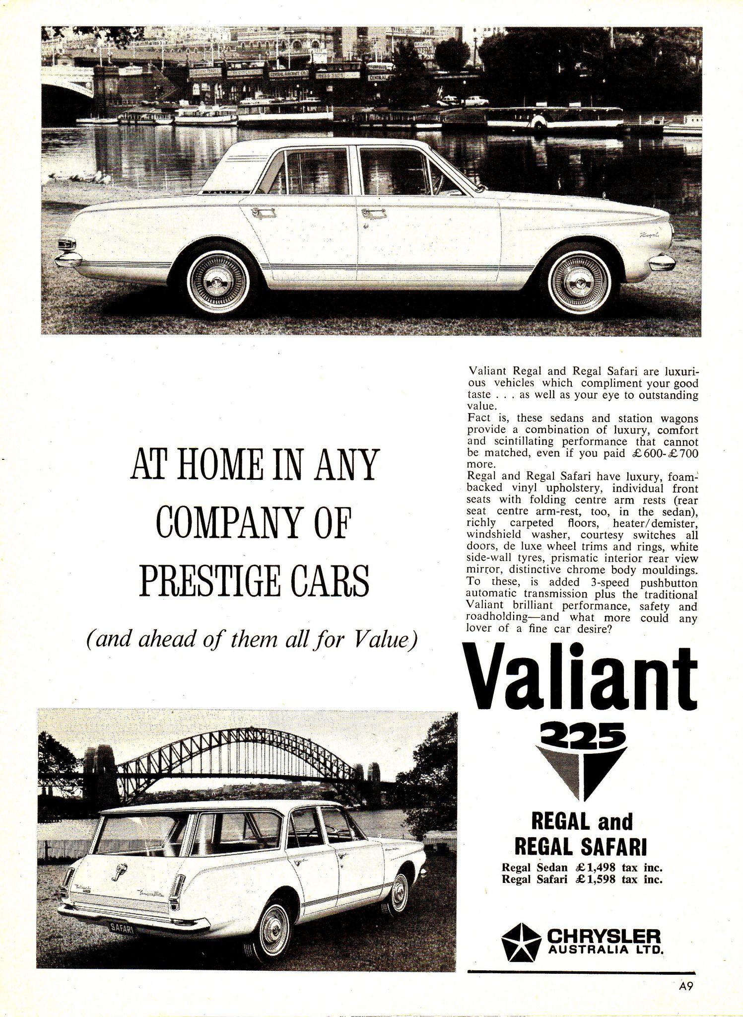 1964 AP5 Chrysler Valiant 225 Regal & Regal Safari Aussie ...