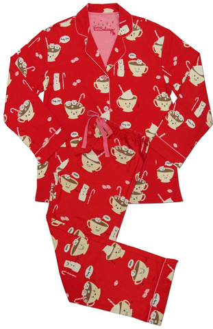 43bc59330042 PJ Salvage flannel pyjamas. Fun hot cocoa and marshmallow print. Perfect  for…