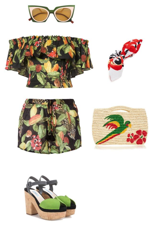 """plantas"" by camilamairams-1 on Polyvore featuring moda, Sensi Studio, Isolda, Prada e Fendi"