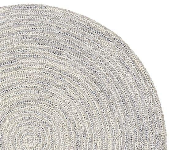 Round Mercer Rug, 5 Feet Round, Light Gray