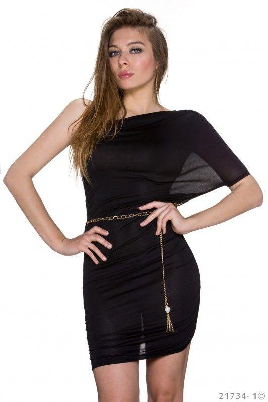 zwart kort jurkje