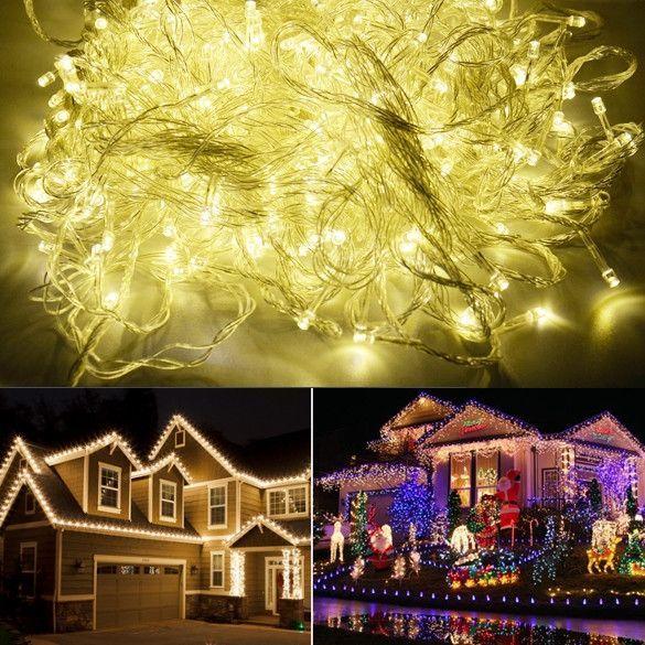 100M 600 LED Warm White Lights Decorative Wedding Fairy Christmas