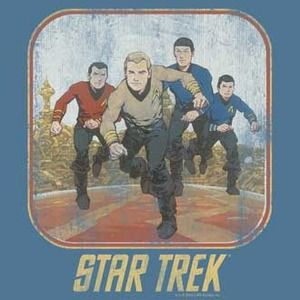 Star Trek Animated Crew Slate Blue T-Shirt