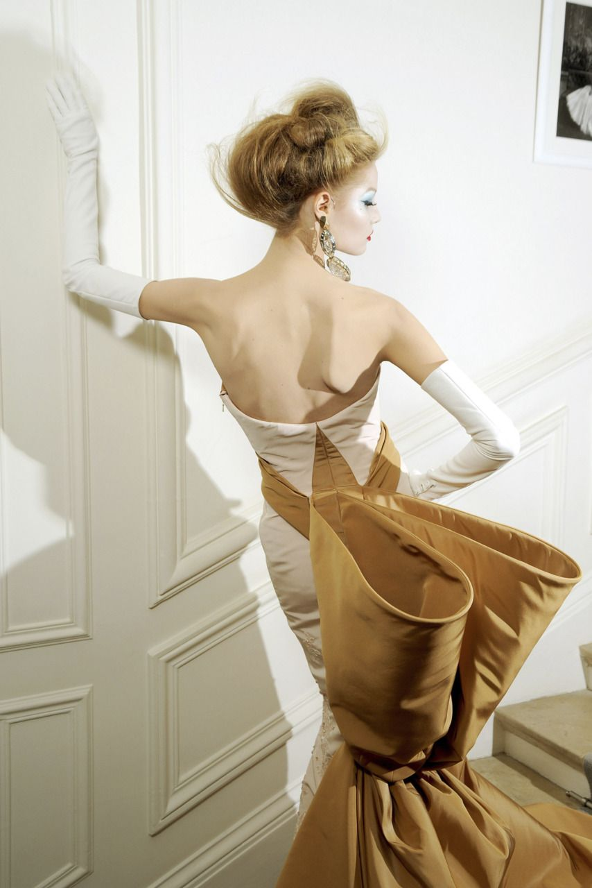 Darling, this dress will be so dramatic!  This will be perfect. Did someone drop something in one of my 'tufts'?......