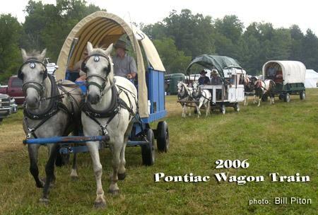 Quebec province wagon train in the Pontiac region, northwest of Ottawa
