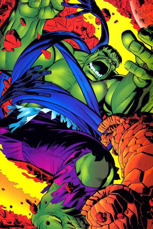 The Incredible Hulk Battles the Fantastic Four