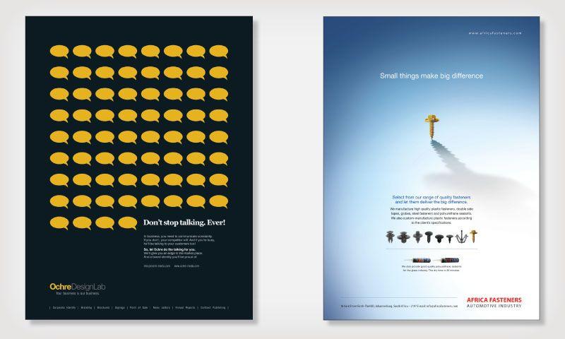 Advertisement design, illustration, conceptual design, Ochre ...