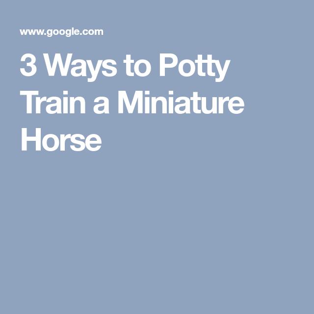 3 Ways To Potty Train A Miniature Horse