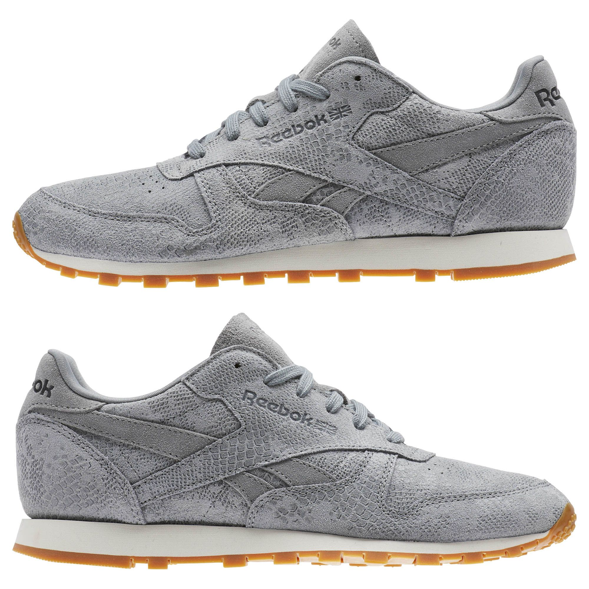Reebok Shoes | Classic Leather Clean Exotic | Poshmark