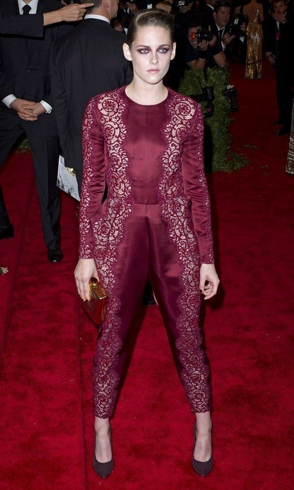 Spring 2013 Costume Institute Exhibition at Metropolitan Museum Gala.Photo shows: Kristen Stewart.