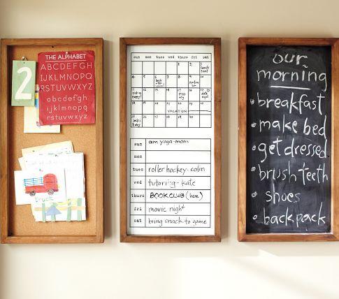 Chalkboard Whiteboard Corkboard Organization System Use