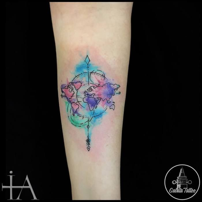 35 best world map tattoo ideas for travel lovers tatuajes lindos 35 best world map tattoo ideas for travel lovers gumiabroncs Choice Image