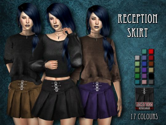 Sims 4 CC's - The Best: Reception skirt by Remus Sims