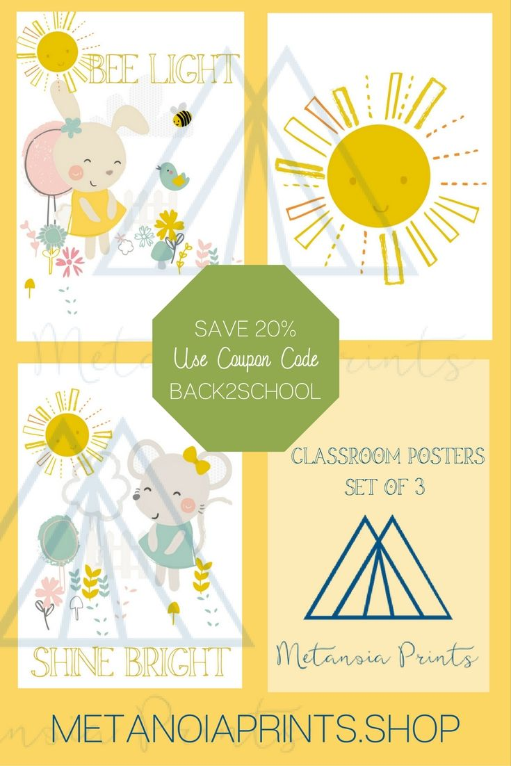 Kids Wall Art Ideas|Set of 3|Bunny Sunshine|Chic Girl Wall Art ...