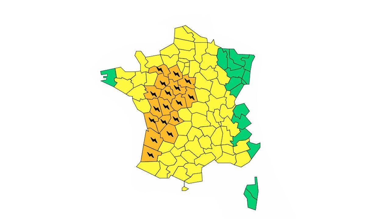 37 Departements Dont Ceux D Ile De France Toujours En Vigilance