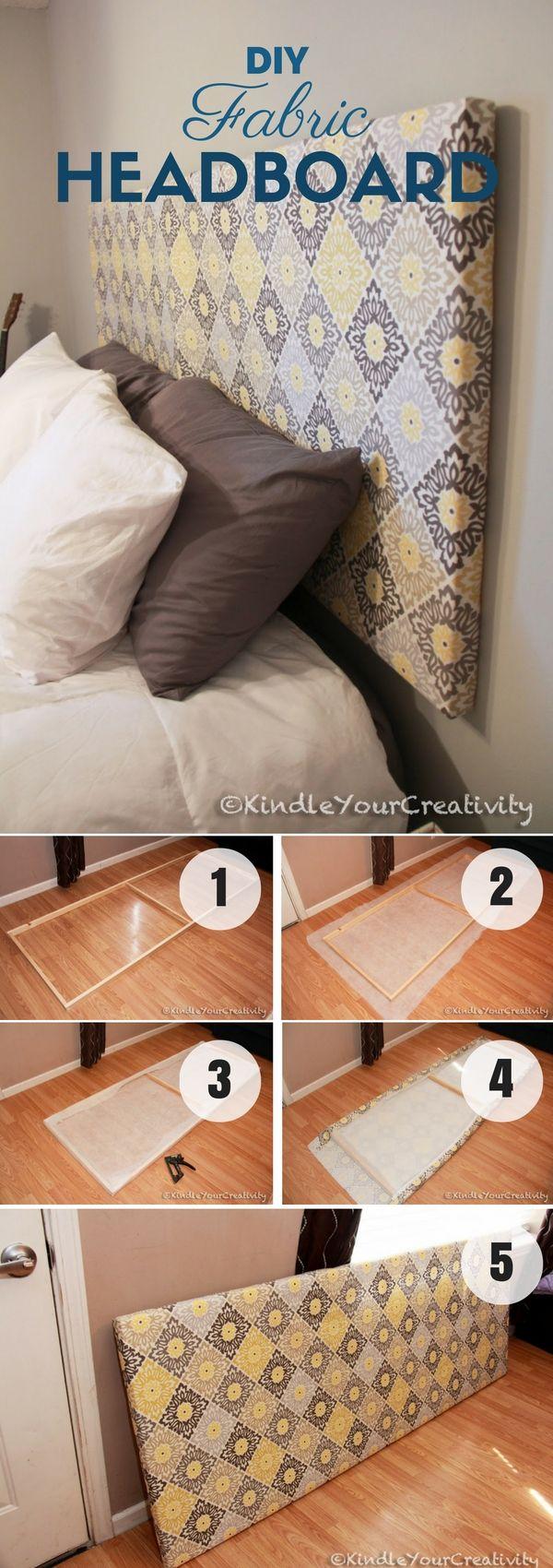 Easy diy bed headboard - Very Easy To Build Diy Fabric Headboard Istandarddesign