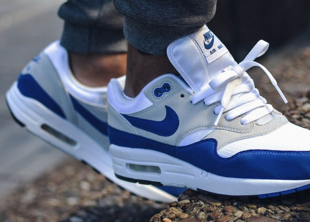 release date 7895f a3848 Nike Air Max 1 OG Anniversary - Game Royal White - 2017 (by shurkicks)