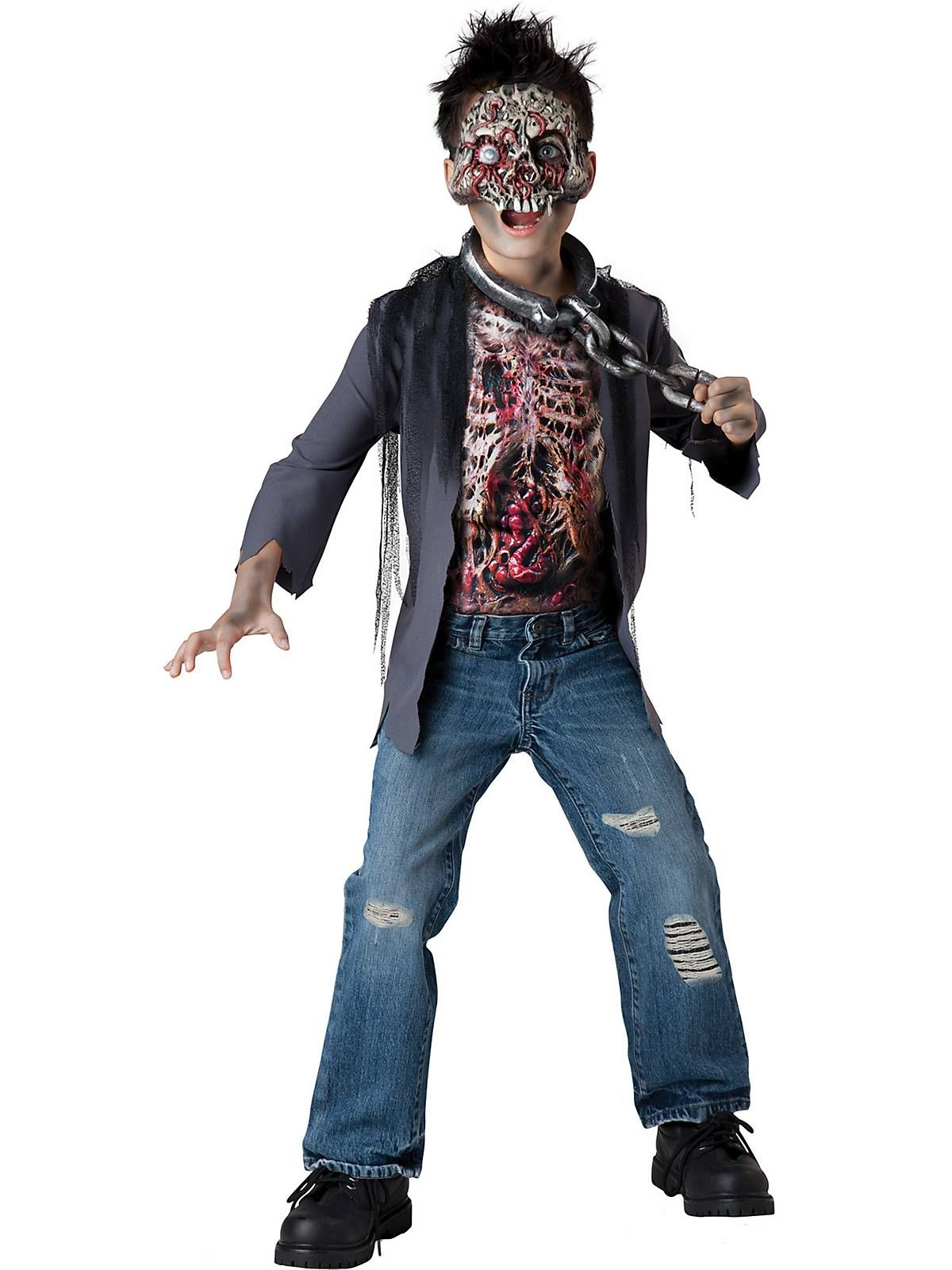 Zombie Unchained Horror Boys Costume Halloween disfraces