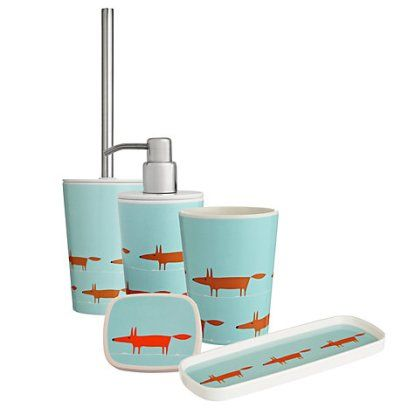 Mr Fox Bathroom Accessories By Scion Soap Dish Soap
