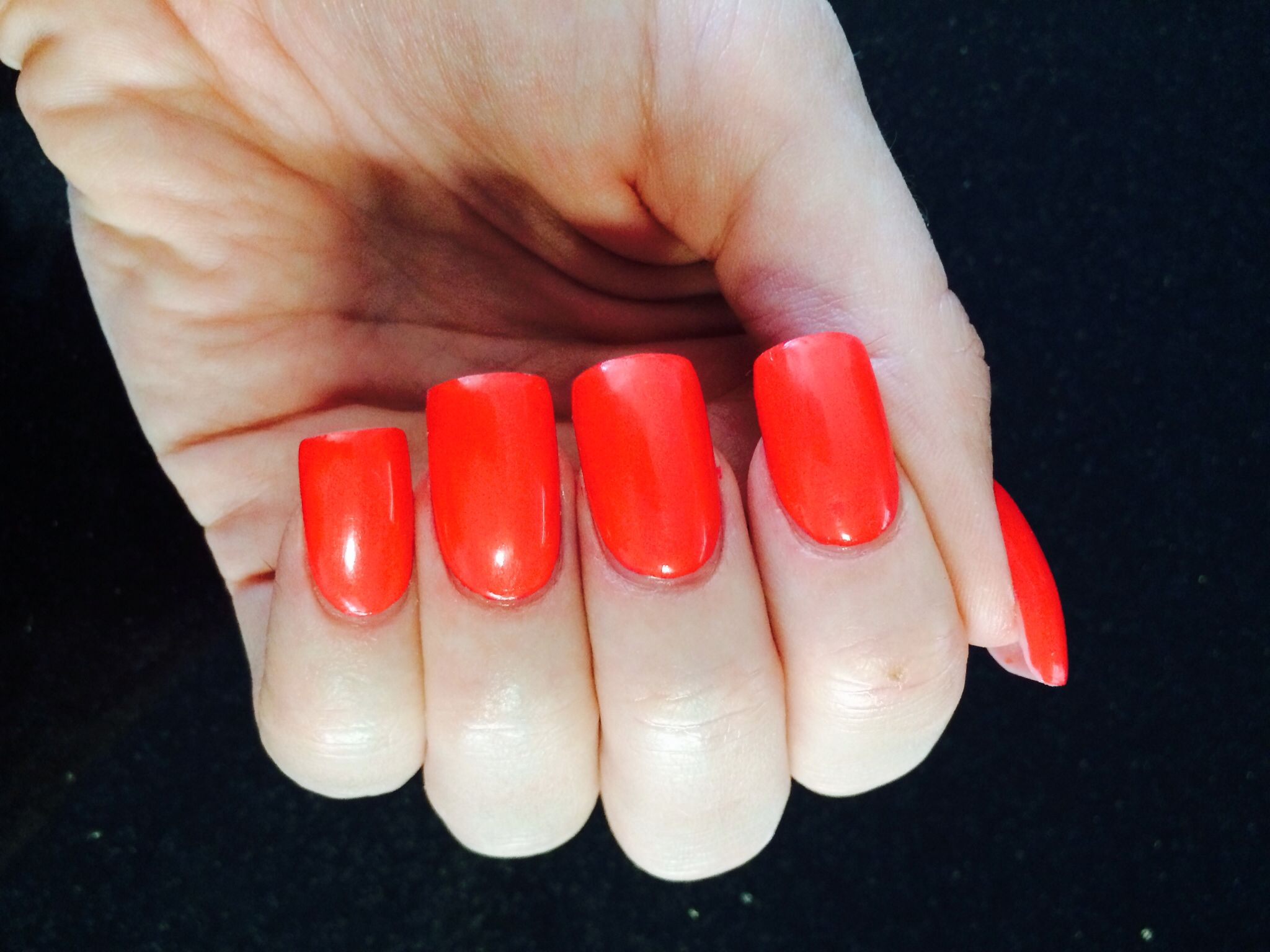New nail colour coral me wild double team dynamicpunch