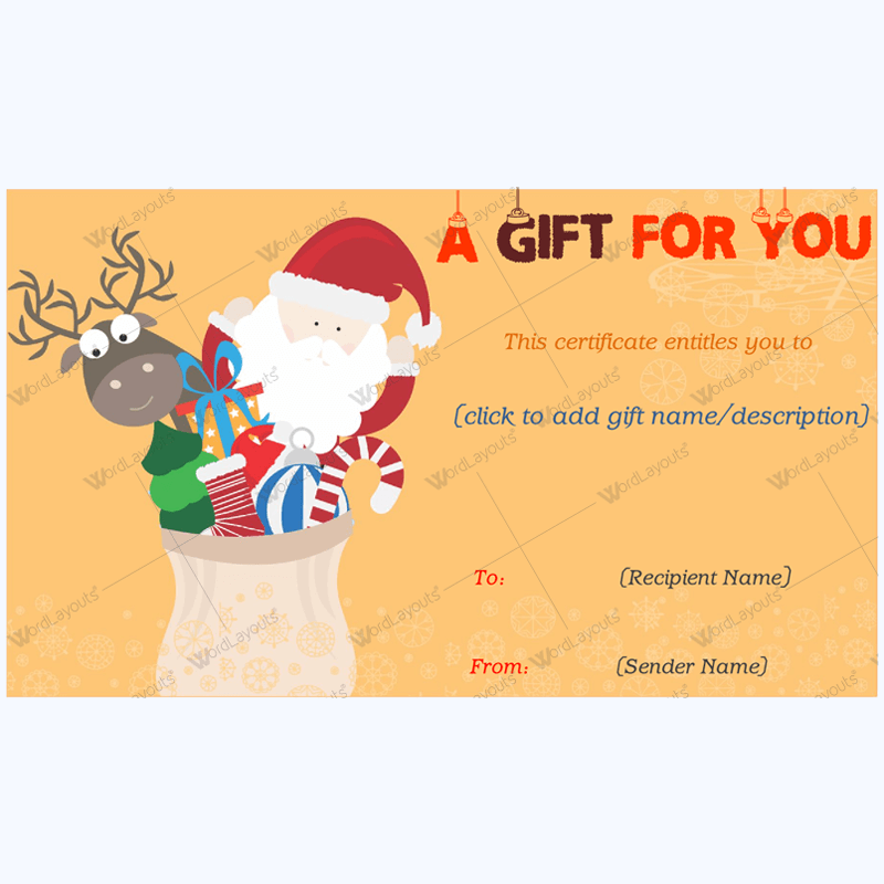 Christmas Certificates Templates For Word Christmas Gift Certificate Template 25  Gift Certificate Template .