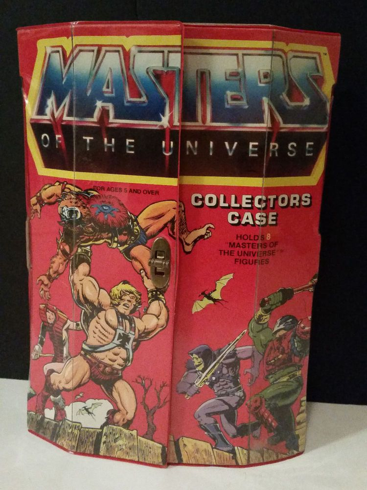1984 MASTERS OF THE UNIVERSE COLLECTORS CASE & 8 ACTION FIGURES, TARA TOY CORP. #TARATOYCORP