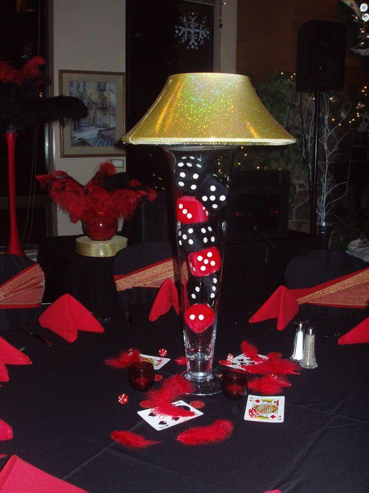 Casinos centerpieces lamp vase vegas centerpiece