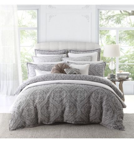 MANON SILVER QUILT COVER SET - SUPER KING | David Jones | bedrooms ... : quilt cover sets david jones - Adamdwight.com