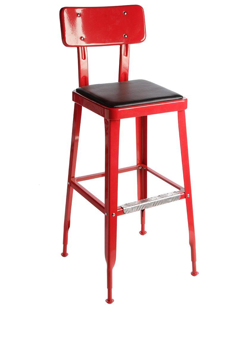 chaise de bar haute rouge la chaise longue pour elle. Black Bedroom Furniture Sets. Home Design Ideas