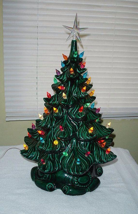Ceramic Christmas Tree 16 Ceramic Christmas Tree Etsy Christmas Tree Decorations Diy Ceramic Christmas Trees Vintage Christmas Tree