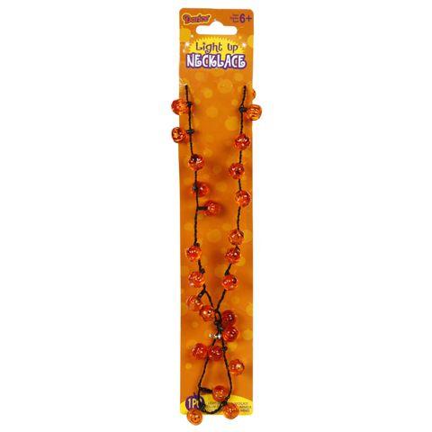 The Jolly Christmas Shop - Halloween light up pumpkin necklace - halloween lighted decorations